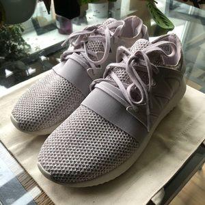 Adidas purple tubular sneakers!